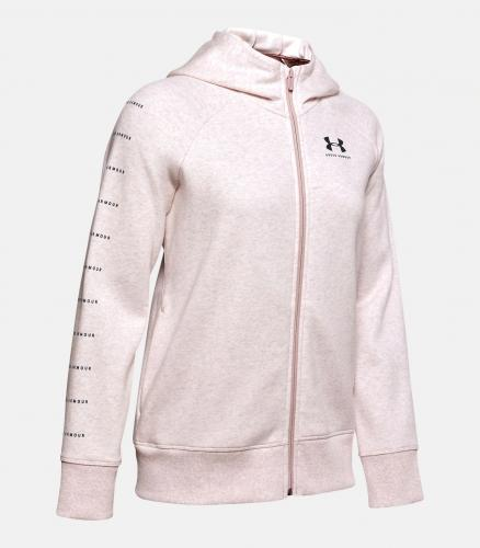 UNDER ARMOUR: RIVAL FLEECE SPORTSTYLE LC GRAPHIC - DASH ROSA