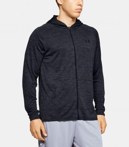 UNDER ARMOUR: TECH 2.0 FZ HOODIE - SVART/GRÅ