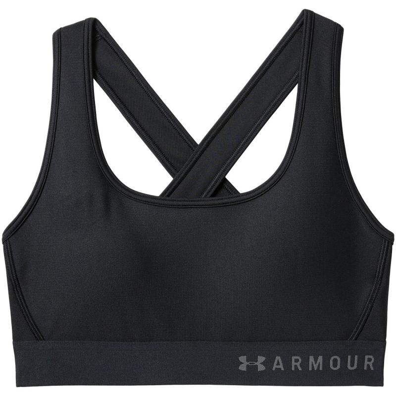 UNDER ARMOUR: MID CROSSBACK SPORT-BH - SVART