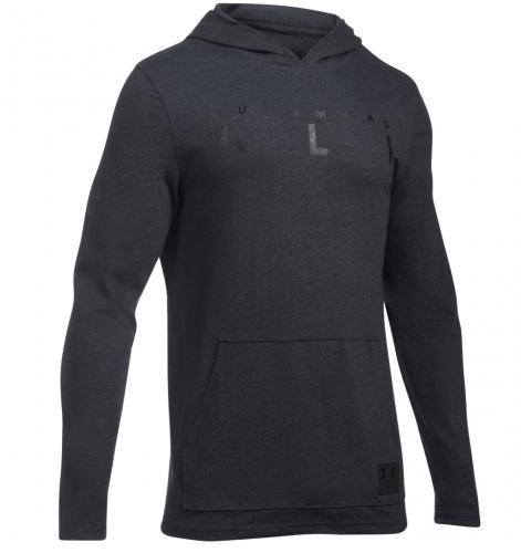 UNDER ARMOUR: ALI WORDMARK HOODIE - SVART