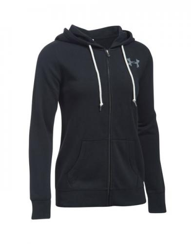 UNDER ARMOUR: FAVORITE FLEECE HOODIE - SVART