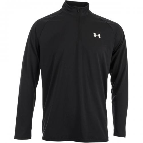 UNDER ARMOUR: TECH 1/4 ZIP TRÖJA - SVART