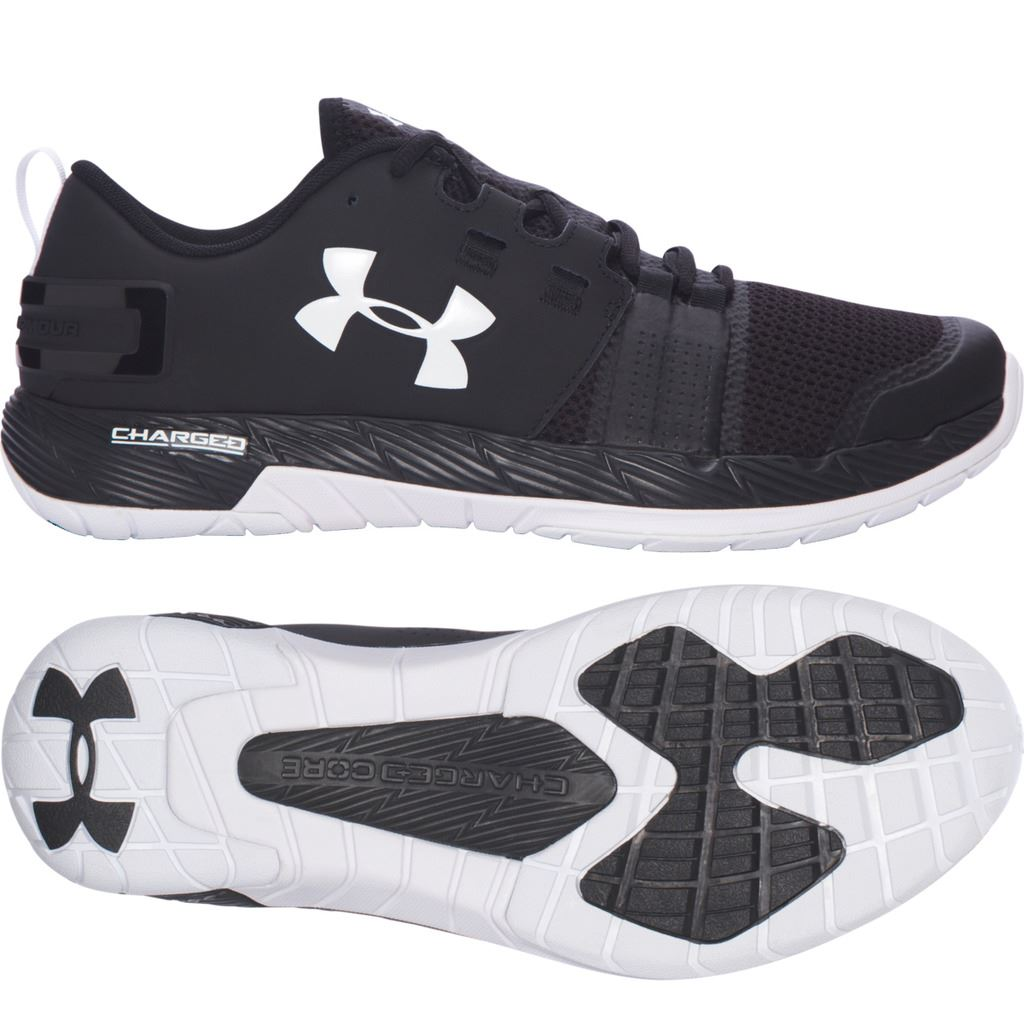 meet eb74a 407a7 UNDER ARMOUR: COMMIT TRAINING SHOES - BLACK