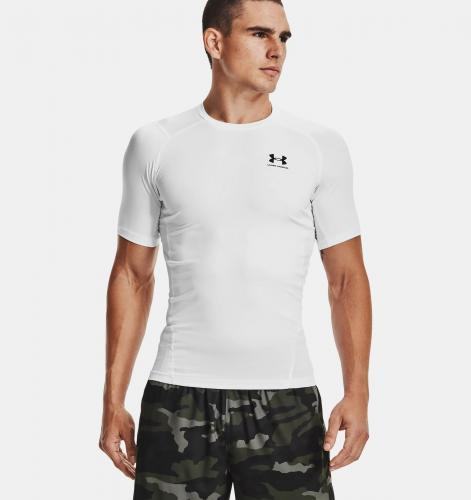 UNDER ARMOUR: HEATGEAR ARMOUR KOMPRESSIONSTRÖJA TRÖJA - VIT