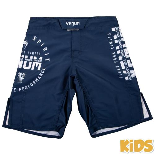 VENUM: SIGNATURE KIDS FIGHTSHORTS - NAVY BLÅ