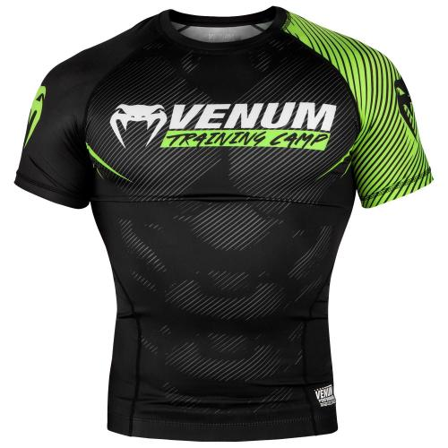 VENUM: TRAINING CAMP 2.0 RASHGUARD - SVART/NEON