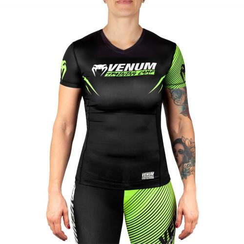 VENUM: WOMEN TRAINING CAMP 2.0 RASHGUARD - SVART/NEON