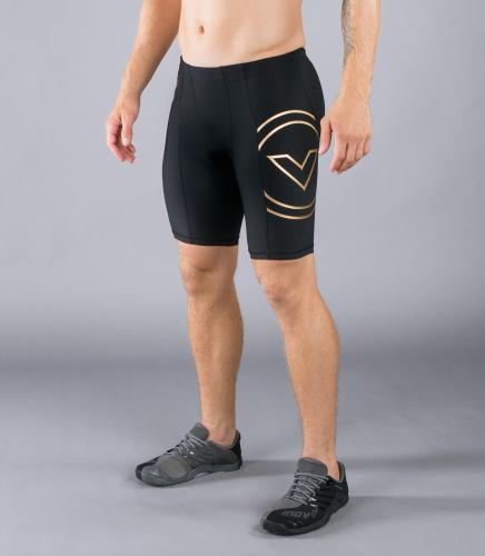 VIRUS: BIOCERAMIC TECH SHORTS - SVART/GULD