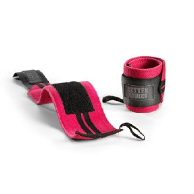 BETTER BODIES: WOMENS WRIST WRAPS - ROSA /SVART