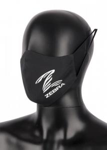 ZEBRA ATHLETICS: FACE MASK - SVART