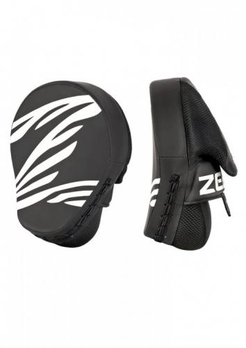 ZEBRA ATHLETICS: FITNESS COACHING MITTS PU - 1 PAR