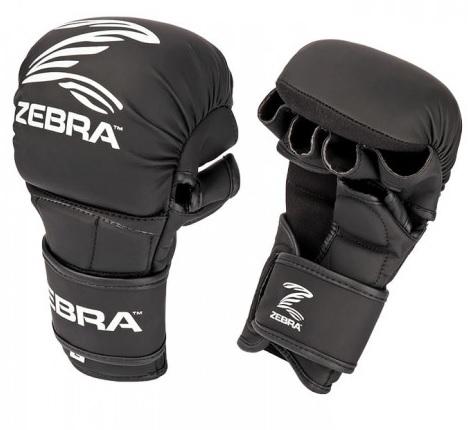 ZEBRA ATHLETICS: MMA SPARRING HANDSKAR - SVART