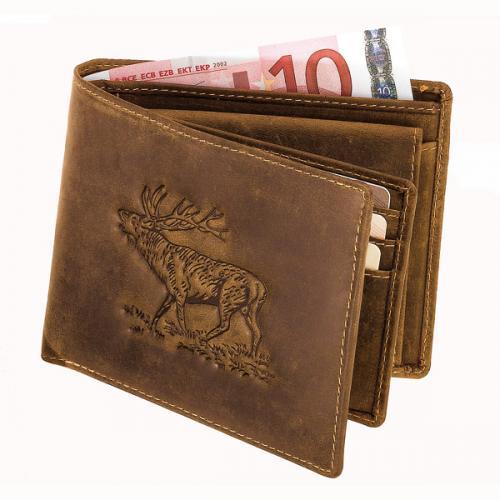 Plånbok med kronhjortsmotiv
