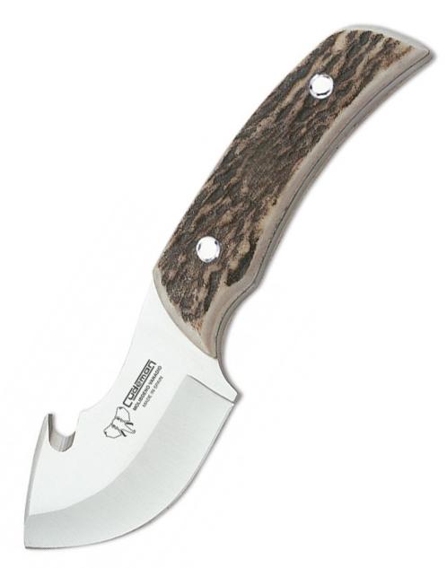 Skinnerkniv med buköppnare, hornhandtag