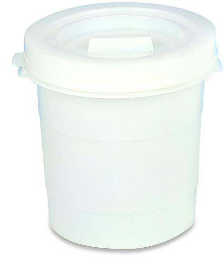 Round Bucket W/Lid 30L White