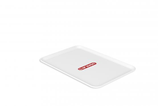 Flat tray nº3 white