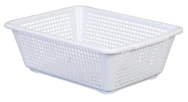 Deep basket large white