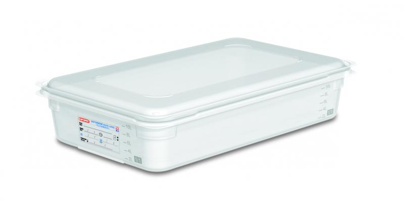 Food box w/lid gn1/1 100mm 13l transparent