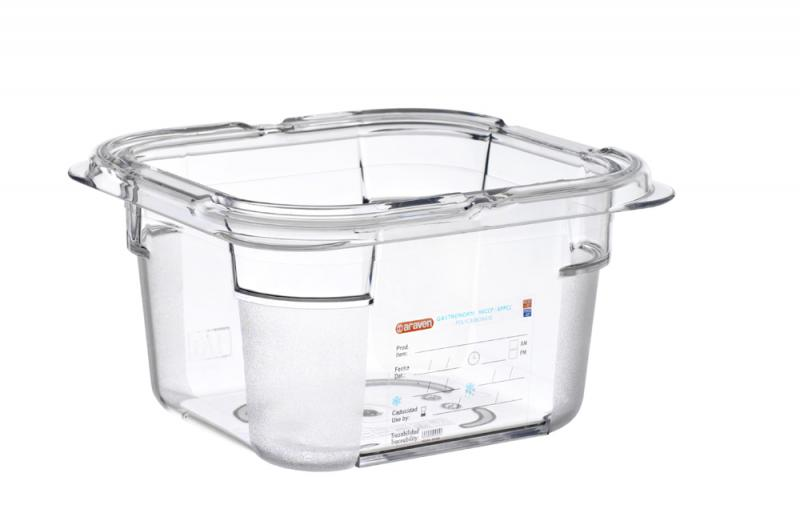 Food box pc gn1/6 100mm 1,5l transparent