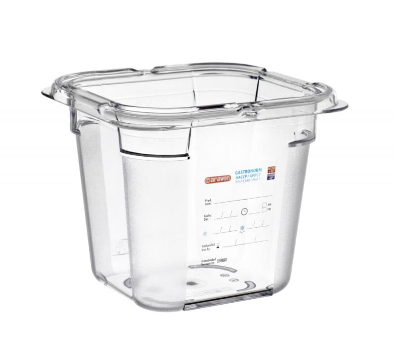 Food box pc gn1/6 150mm 2,15l transparent