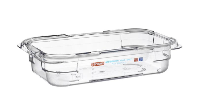 Food box pc gn1/4 65mm 1,6l transparent