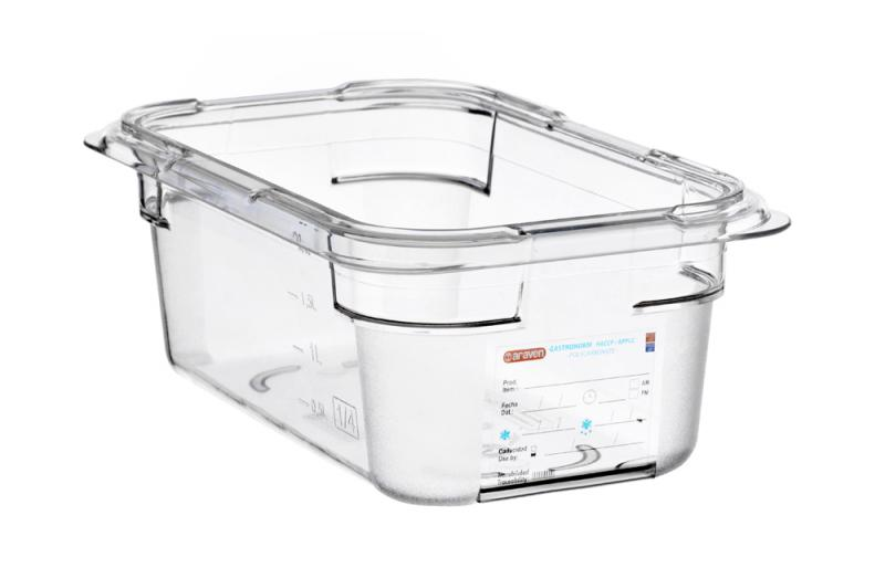 Food box pc gn1/4 100mm 2,6l transparent