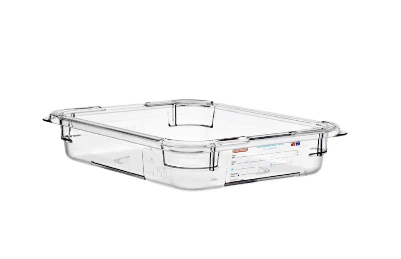 Food box pc wo/lid gn1/2 65mm  3,9l transparent