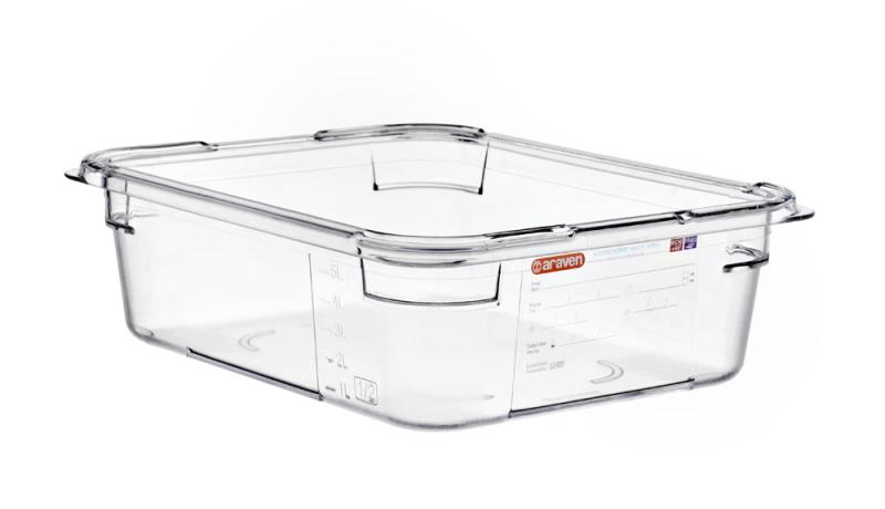 Food box pc wo/lid gn1/2 100mm 6l transparent