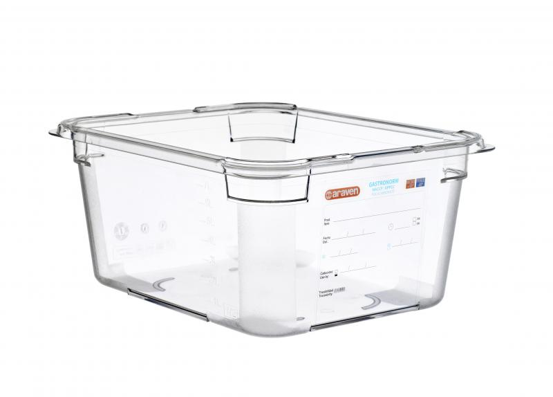 Food box pc gn1/2 150mm 9l  transparent