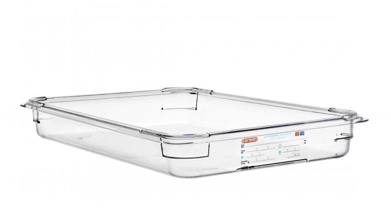 Food box pc wo/lid gn1/1 65mm 8,35l transparent
