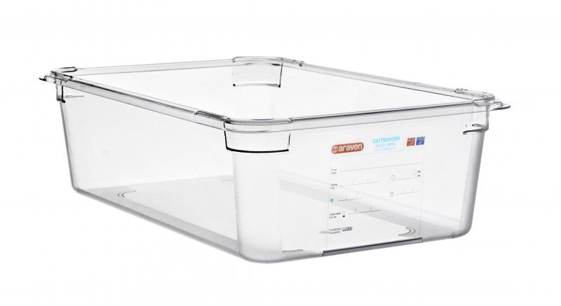 Food box pc gn1/1 150mm 19,6ltransparent