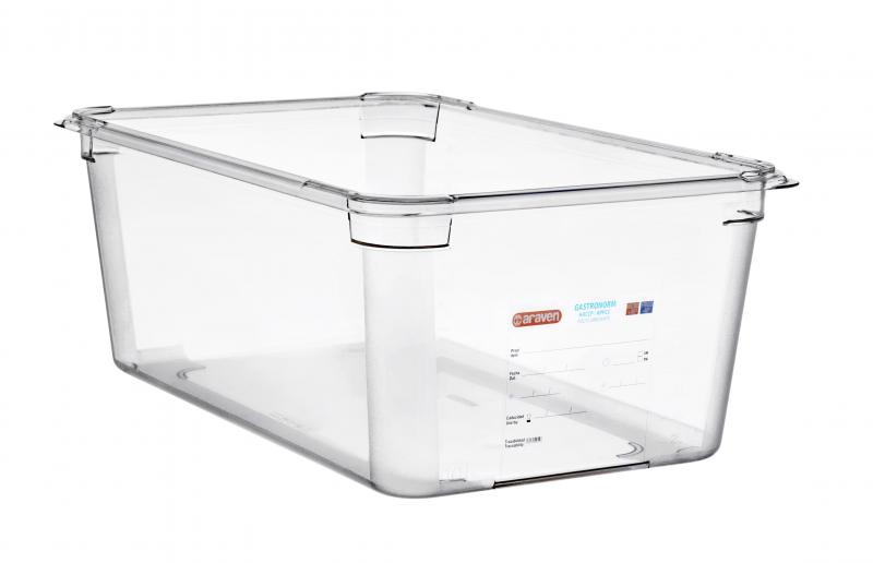 Food box pc gn1/1 200mm 26,1l transparent