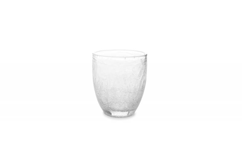 Glass 0.25l transparent Crackle