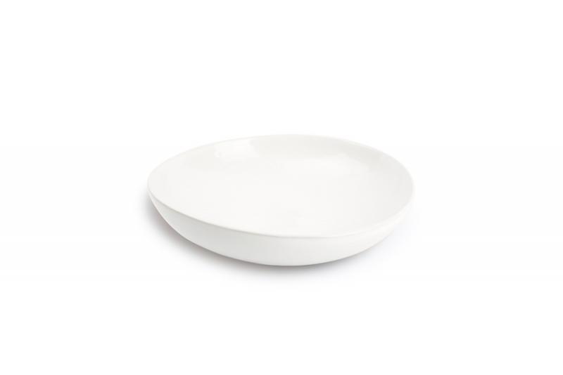 Deep plate 22xH5,5cm porcelain white Claro 1