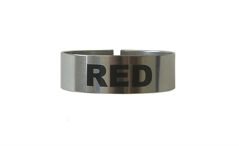 St/Steel Large Thimble I.D. Clip - Red