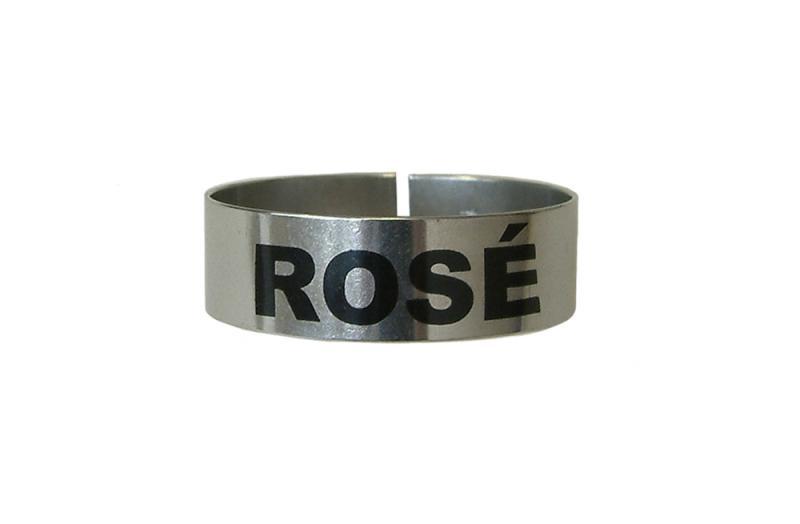 St/Steel Large Thimble I.D. Clip - Rose