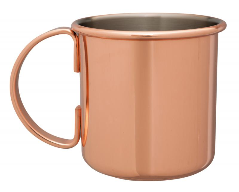 Copper Plated Straight Sided Moscow Mule Mug