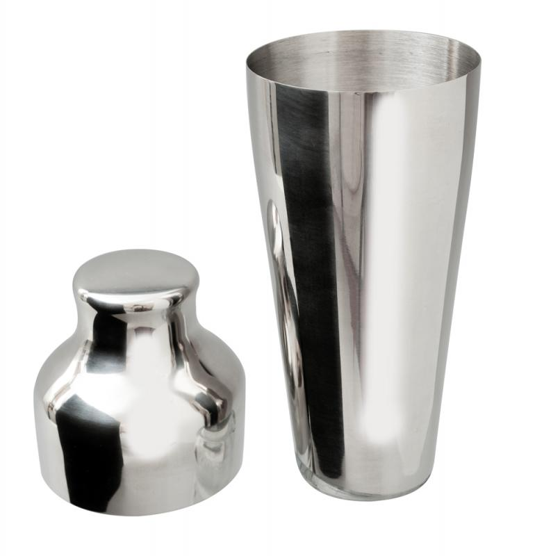 Stainless Steel 2 Piece Art Deco Shaker
