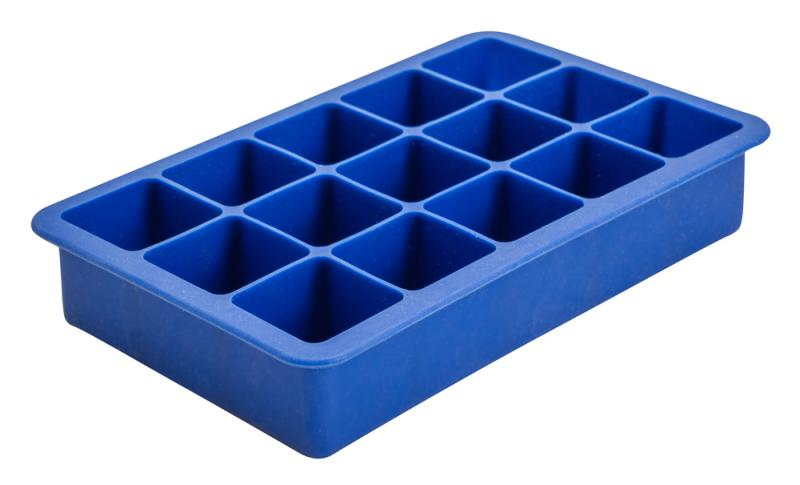 15 Cavity Silicone Ice Cube Mould 1.25 Inch Square (Blue)