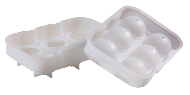 6 Cavity Silicone Ice Ball Mould - Clear
