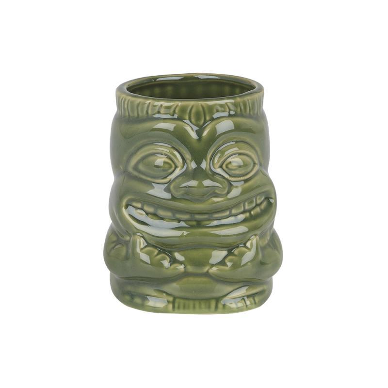 Ceramic Tiki Mug With Handle 425ml - Sea Green