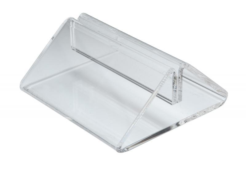 Tent Menu Holder - Clear Perspex