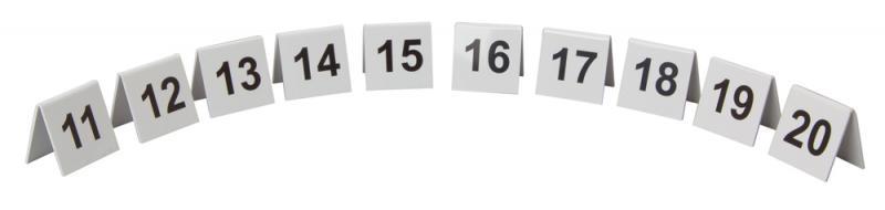 Perspex Table Numbers 11-20