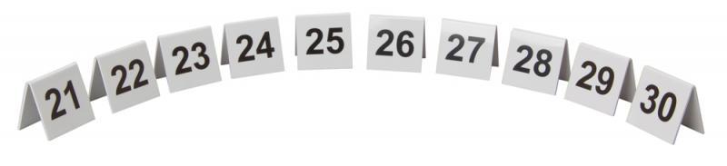 Perspex Table Numbers 21-30