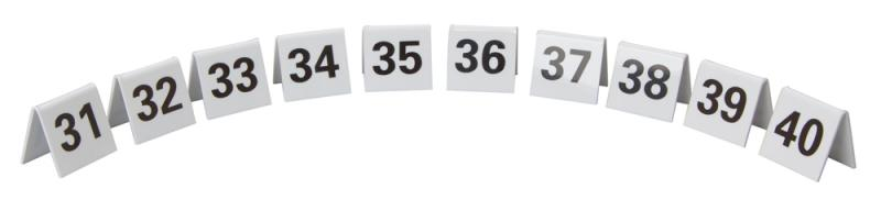 Perspex Table Numbers 31-40