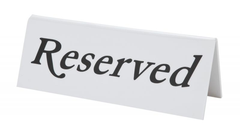 Reserved Table Sign Plastic Individual