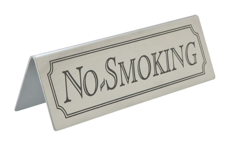 No Smoking Table Sign Stainless Steel