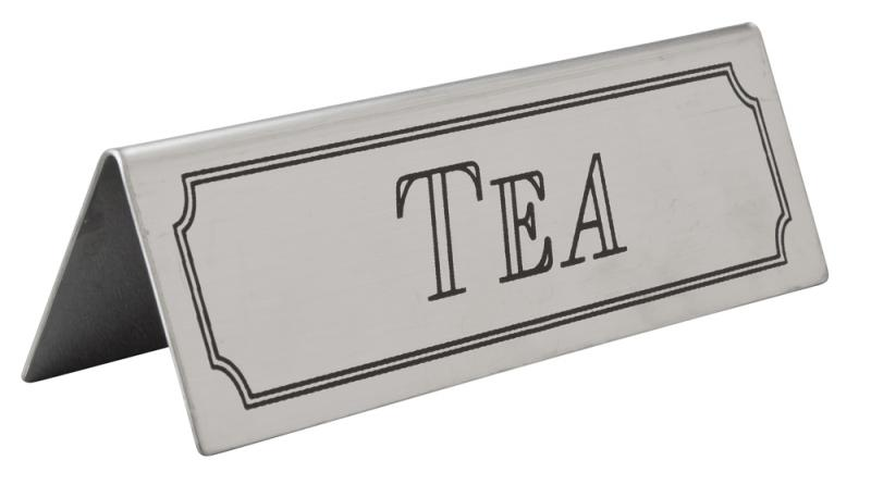 Tea Table Sign Stainless Steel