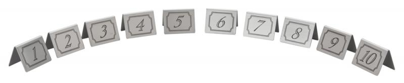 1-10 Stainless Steel Table Numbers