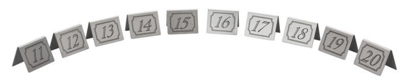 11-20 Stainless Steel Table Numbers